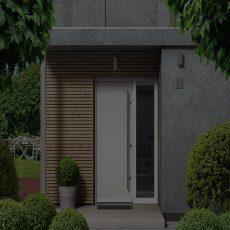 Porte d'entrée et portail